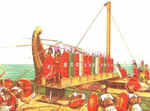 Operation of the Roman corvus