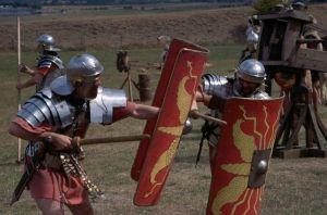 Rzymscy legioniści w trakcie treningu
