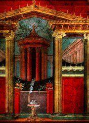 Iluzjonistyczny rzymski fresk