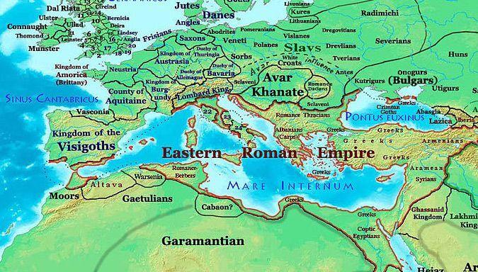 Garamantowie na mapie Afryki Północnej