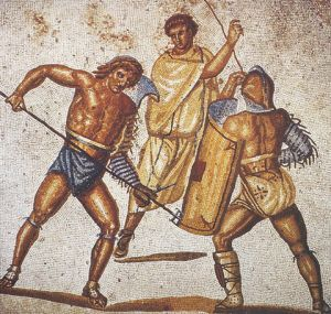 Gladiatorial fight (a mosaic)