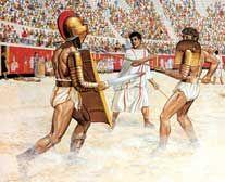 Gladiatorial fight