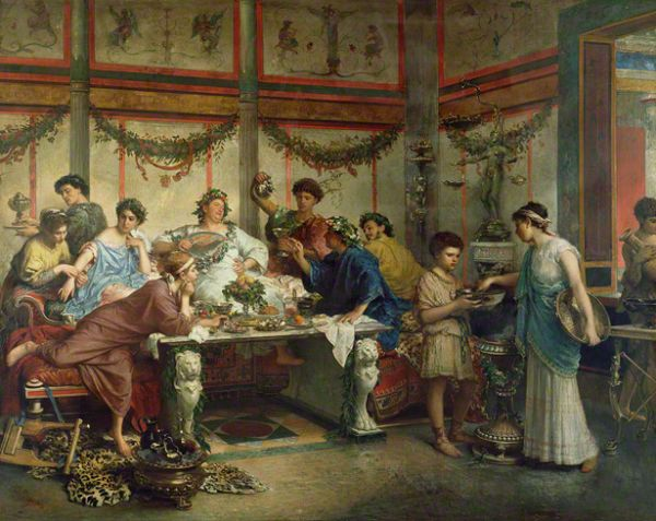 Picture by Roberto Bompiani showing the Roman feast