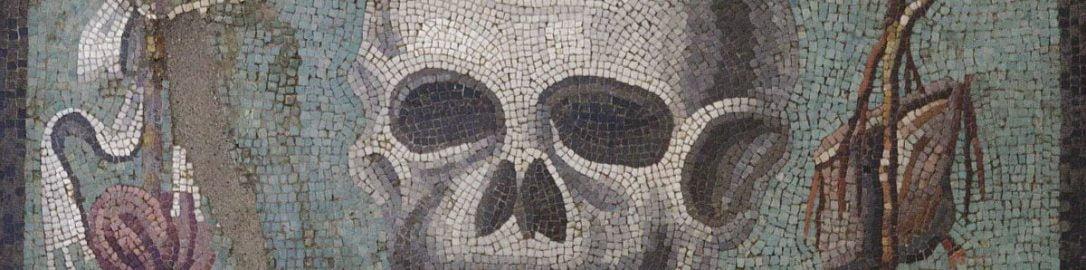 Mozaika rzymska ukazująca czaszkę