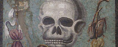 Roman mosaic showing the skull