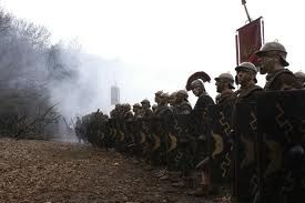 The first line of the Roman army