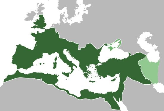 Roman Empire in 117 CE, at the height