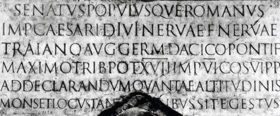 Inskrypcja na kolumnie Trajana