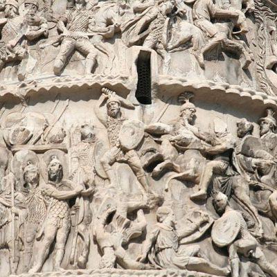 Jedna z bitew I wojny markomańskiej. Płaskorzeźba z kolumny Marka Aureliusza
