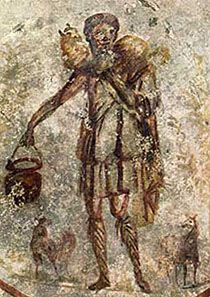 Jesus Christ (wall painting) from the 3rd century CE
