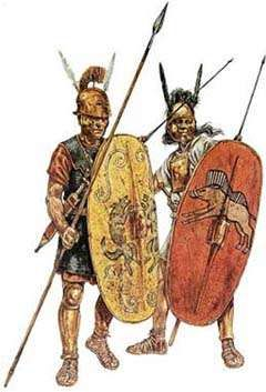 Roman legionaries from the times of the republic
