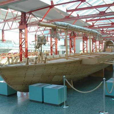 Reconstruction of a Roman warship used on the Rhine