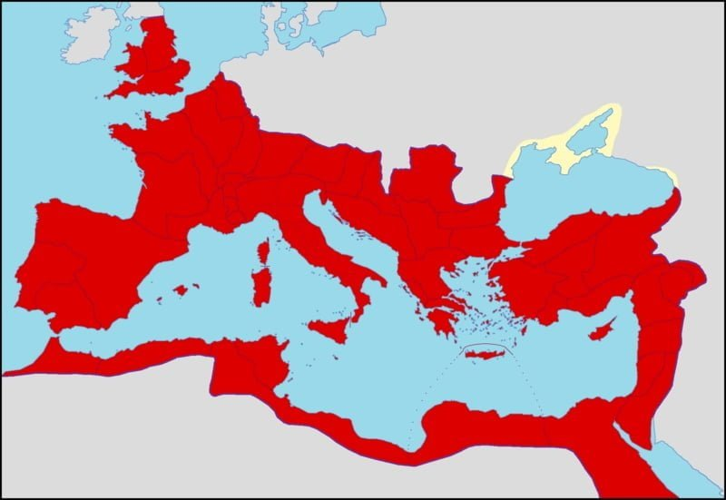 Roman Empire during the reign of Emperor Caracalla, c. 212 CE
