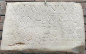 Inskrypcja z Meridy (Hiszpania) wspominająca o żołnierzu z legionu VI Victrix