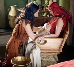 Rekonstrukcja porodu w filmie Tajemnice starożytnego Rzymu