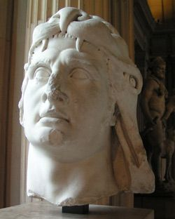 Mitrydates VI Eupator z nakryciem głowy stylizowanym na Aleksandra Wielkiego