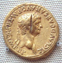 Złote moneta Klaudiusza znaleziona w południowych Indiach