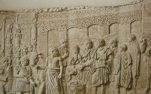 Relief na kolumnie Trajana ukazujący most Trajana