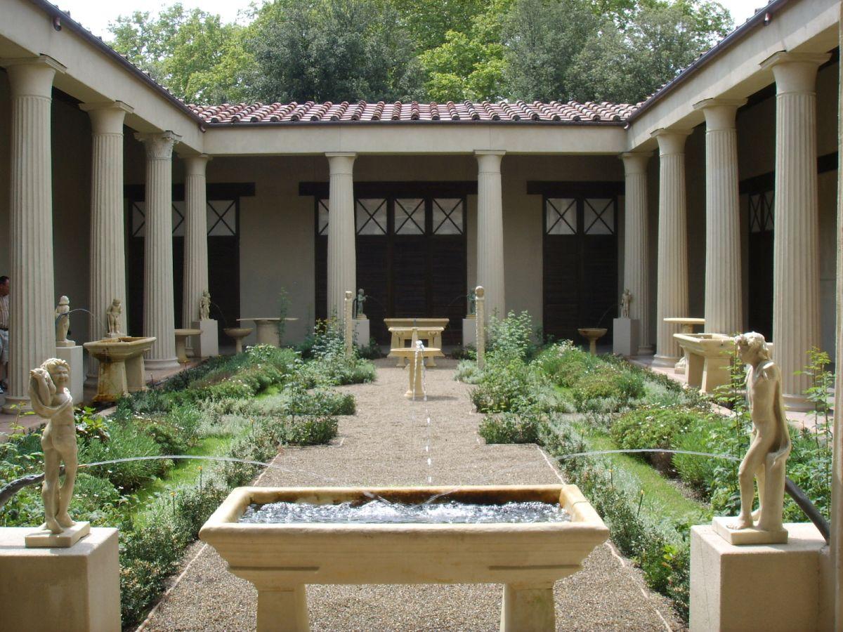 Rekonstrukcja ogrodu w domu Wettiuszów w Pompejach