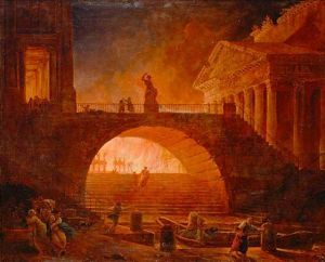 Visualization showing the Great Fire of Rome (64 CE)