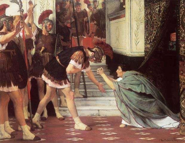 Ogłoszenie cesarzem Klaudiusza, Lawrence Alma-Tadema