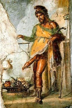 Fresk przedstawiający boga Priapa w Domu Wettiuszów