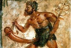Fresk przedstawiający boga Priapa w Domu Wettiuszów w Pompejach