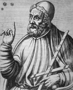 Print showing Claudius Ptolemy