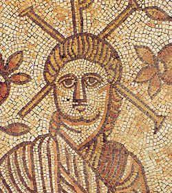 Mozaika rzekomo ukazująca Chrystusa