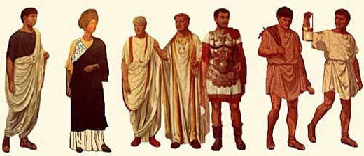 Types of clothing in Roman society