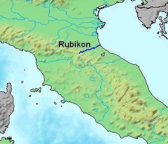 Rubikon w czasach Republiki Rzymskiej był rzeką graniczną między Galią Przedalpejską a Italią