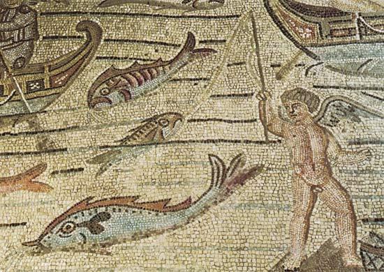 Sea fishing (mosaic)