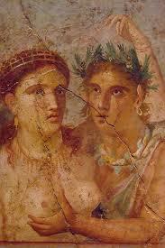 Uwieczniona na fresku para Rzymian