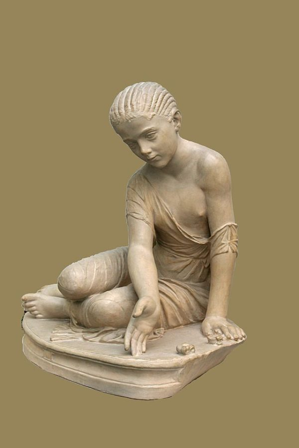 Roman statuette depicting a playing girl