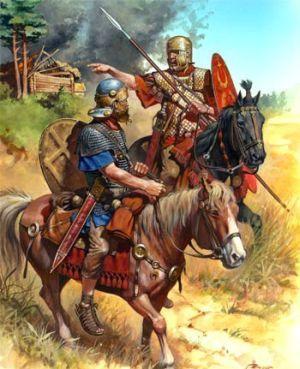 Roman cavalry from 90 CE