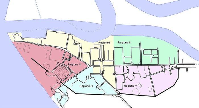 Plan miasta portowego Ostia