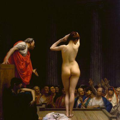 Sprzedaż niewolników w Rzymie, Jean-Léon Gérôme