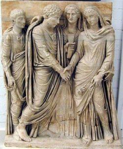 Płaskorzeźba ukazująca ślub w Rzymie