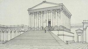 Rysunek świątyni na forum Sewera