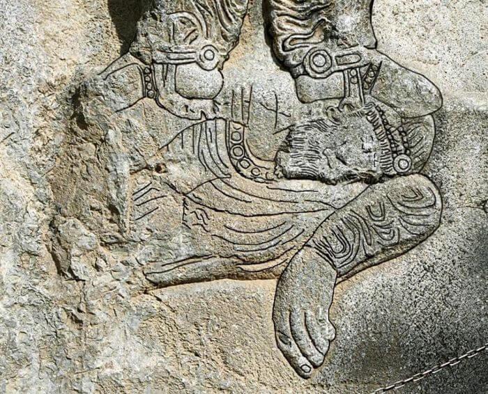 Szapur II stojący na zwłokach pokonanego cesarza Juliana
