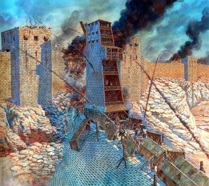 Visualization of the assault on Masada