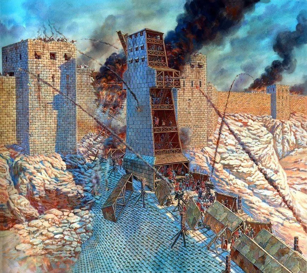 Wizualizacja szturmu na Masadę
