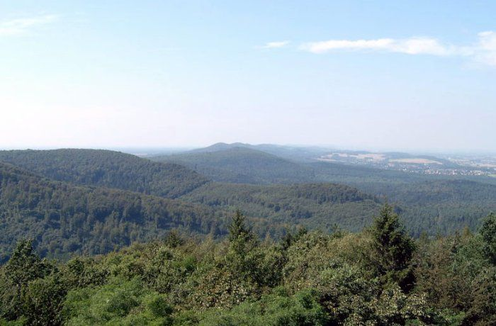 Panorama of the Teutoburg Forest