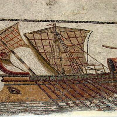 Mozaika rzymska ukazująca trierę