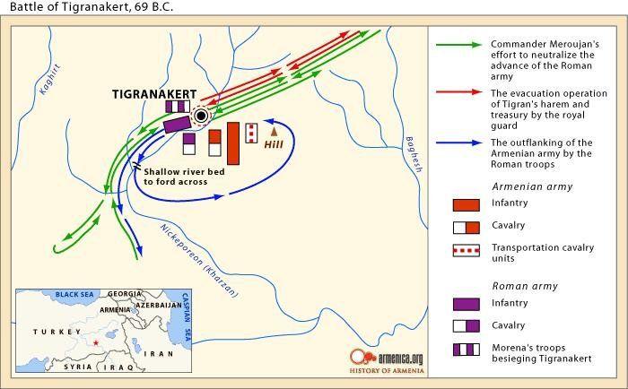 Plan bitwy pod Tigranocertą