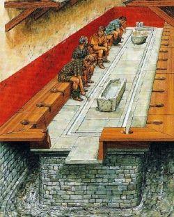 Toaleta publiczna w Rzymie