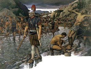 Wzdłuż drogi appijskiej zdecydowano się ukrzyżować 6000 jeńców