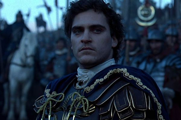 Joaquin Phoenix playing the character of Commodus in the movie Gladiator