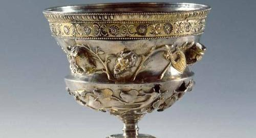 Richly decorated Roman cup