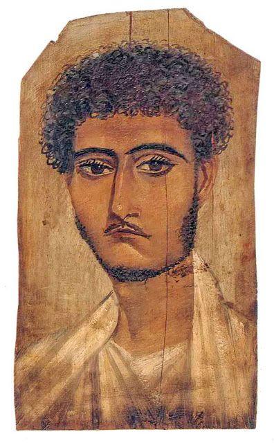 Realistyczny portret młodego Rzymianina